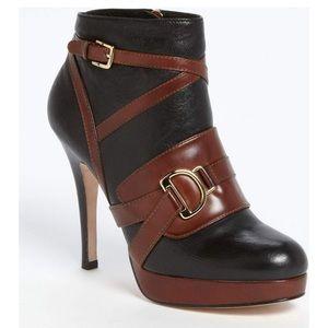 Cole Haan Carolyn Black Brown Ankle Booties